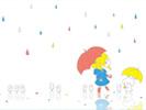 雨散歩(シンプル)■カナヘイの無料壁紙