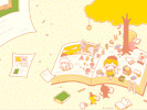 読書の秋(イエロー)■カナヘイの無料壁紙