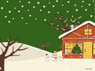 クリスマスの朝(緑)■カナヘイの無料壁紙