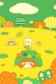 菜の花畑でつかまえて(緑)■illust_カナヘイ