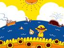 海に来た■カナヘイの無料壁紙
