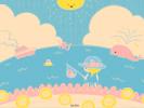 海に来た(青)■カナヘイの無料壁紙