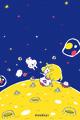 月に来た(濃)■illust_カナヘイ