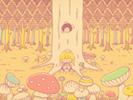 キノコの森■カナヘイの無料壁紙