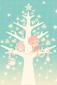 雪とツリーとぼくたち1■illust_カナヘイ