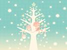 雪とツリーとぼくたち1■カナヘイの無料壁紙