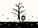 落ち葉のおふとん(あるいは落ち葉焚き)■カナヘイの無料壁紙