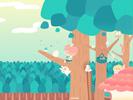 木の上1■カナヘイの無料壁紙