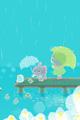 湖のほとりの小鳥1■illust_カナヘイ