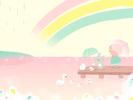 湖のほとりの小鳥1■カナヘイの無料壁紙