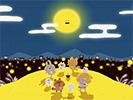 月夜のパーリーピーポー1■カナヘイの無料壁紙