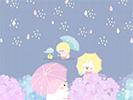おニューの傘2■カナヘイの無料壁紙