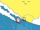 波乗り1■カナヘイの無料壁紙