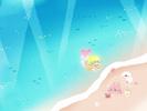 海と砂浜■カナヘイの無料壁紙
