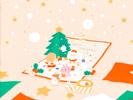 クリスマスカード■カナヘイの無料壁紙